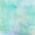 Abstract watercolor background painted blue mixed green Royalty Free Stock Photo