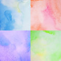 Abstract watercolor background set