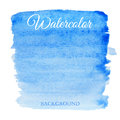 Abstract watercolor blue hand drawn background