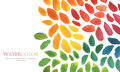 Abstract watercolor brush strokes painted background. Royalty Free Stock Photo