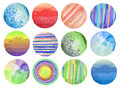 Abstract watercolor circle painted background. Texture paper. Is