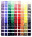 Abstract watercolor colorful gradient squares Royalty Free Stock Photo