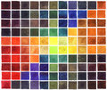 Abstract watercolor colorful squares background with colored gradient Stock Photos
