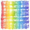 Abstract watercolor crosshatched rainbow frame artistic spectrum cross hatched background Royalty Free Stock Photo
