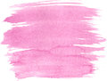 Abstract watercolor hand paint texture isolated on white background pink textured backdrop drop traced Royalty Free Stock Photos