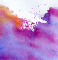 Abstract watercolor hand painted Stock Image