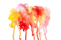 Abstract watercolor paint red background useful as design element Stock Photo