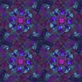 Abstract watercolor pattern. Blue and pink flowers.