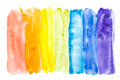 Abstract watercolor rainbow colors Royalty Free Stock Photography