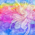 Abstract watercolor seamless hand-drawn pattern Royalty Free Stock Images