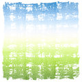 Abstract watercolor sky and grass square crosshatched frame fresh morning spring summer grassy meadow or field nature concept with Stock Photos