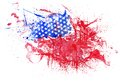 Abstract Watercolor USA Flag