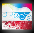 Abstract wave banners multi-colored Stock Images