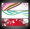 Abstract wave banners multi-colored Royalty Free Stock Image