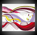 Abstract wave banners multi-colored Royalty Free Stock Photo