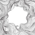 Abstract wave frame background Hair outline stripe pattern. Royalty Free Stock Photo