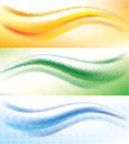 Abstract wave halftone background set of vector with Stock Image