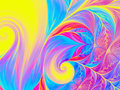 Abstract wave psychedelic oil background. Fractal artwork for creative design.