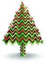 Abstract wave shape candy christmas tree Stock Image