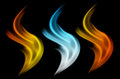 Abstract fire wave smoke Royalty Free Stock Photo
