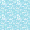 Abstract waves  seamless pattern. Graphic design background in colors of blue and white Royalty Free Stock Photo