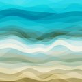 Abstract wavy background design creativity of blue and beige waves vector illustration eps Stock Photos