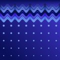 Abstract wavy background design creativity of colorful horizontal waves and circles vector illustration eps Stock Photos