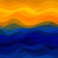 Abstract wavy background design creativity of colorful waves vector illustration eps Royalty Free Stock Photo