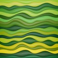 Abstract wavy background design creativity of green horizontal waves vector illustration Royalty Free Stock Photos