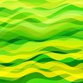 Abstract wavy background design creativity of green and yellow horizontal waves vector illustration eps Stock Images