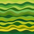Abstract wavy background design creativity of green and yellow horizontal waves vector illustration eps Royalty Free Stock Images