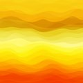 Abstract wavy background design creativity of yellow horizontal waves vector illustration eps Royalty Free Stock Images
