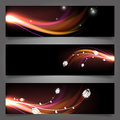 Abstract wavy banners vector illustration eps Royalty Free Stock Image