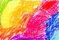 Abstract wax crayon hand drawing Royalty Free Stock Photo