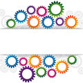 Abstract web design with copy space in cog wheel illustration of Stock Photo