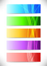 Abstract web headers collection of cards clip art Royalty Free Stock Images