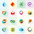 Abstract web icons and elements for mobile Royalty Free Stock Photos