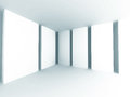 Abstract White Architecture Background. Empty Room Modern Interi Royalty Free Stock Photo