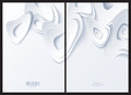 Abstract white background front and back Stock Photography