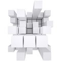 Abstract white cube Royalty Free Stock Photo