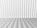 Abstract White Curve Lines 3d Background Royalty Free Stock Photo