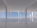 Abstract white empty interior background d rendering parking Stock Photography