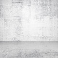 Abstract white empty interior with concrete wall and floor Stock Images