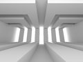 Abstract White Futuristic Modern Architecture Background Royalty Free Stock Photo