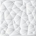 Abstract white geometrical background triangle vector illustration Stock Images