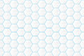 Abstract white hexagons and blue lines seamless backgroud Royalty Free Stock Photo