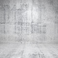 Abstract white interior with concrete walls empty and floor Royalty Free Stock Images