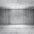 Abstract white interior of empty concrete room with walls Stock Photos