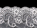 Abstract white lace pattern closeup close up for underwear Stock Image