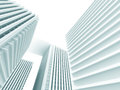 Abstract White Modern Buildings. Architecture Background Royalty Free Stock Photo